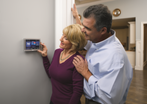 thermostat in home
